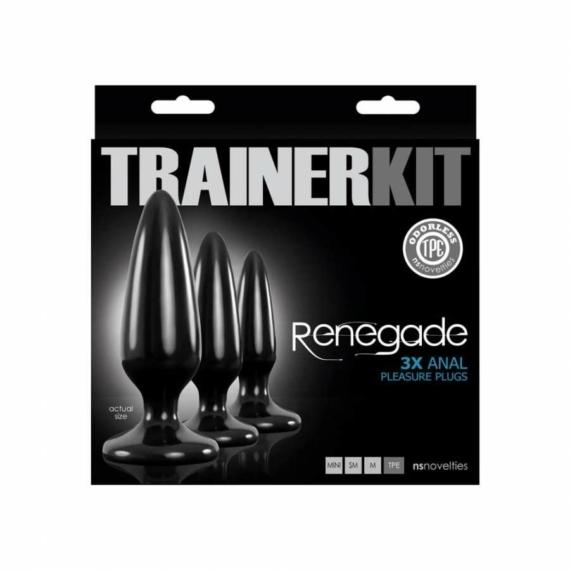 Renegade Pleasure Plug 3 pc Trainer Kit szexkellékek