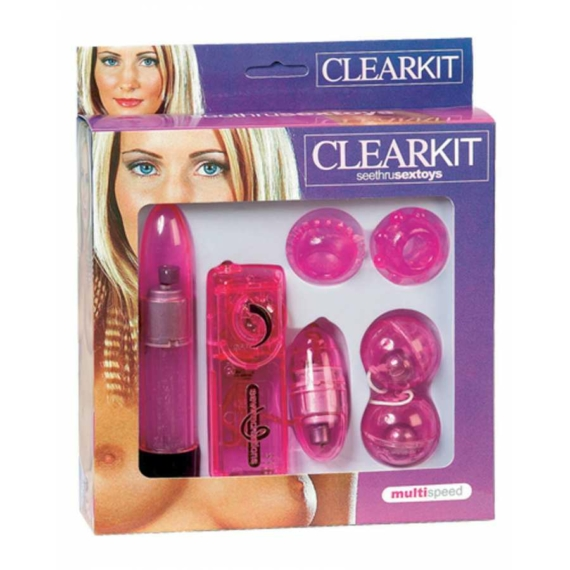 Clearkit Seethru Sextoys Hot Pink szexkellékek