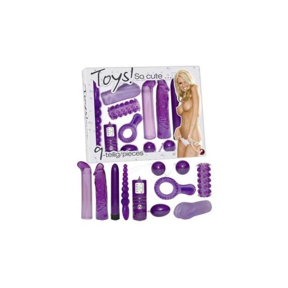 Lila Vibrator Set szexkellékek